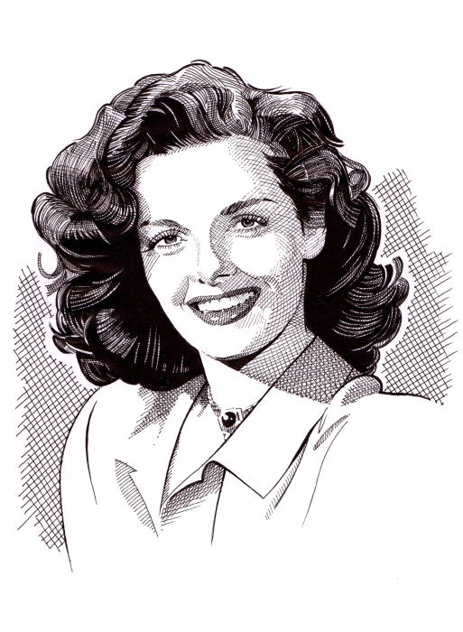 Jane Russell by Stefanosart
